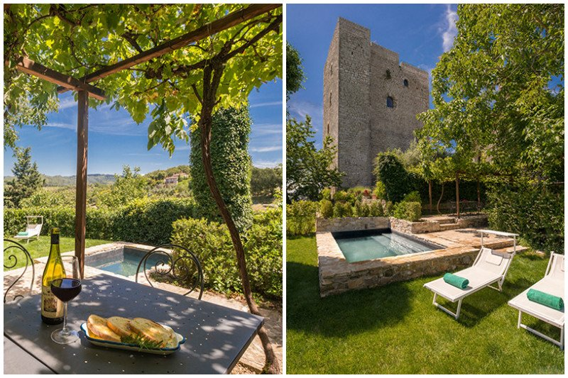 Vertine Villa Sleeps 8 with Pool Air Con and WiFi - 5343550, alquiler vacacional en Lecchi in Chianti