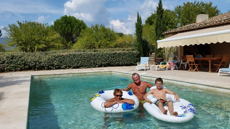 Our first holiday / Our first guests in 2016 (The Pool)