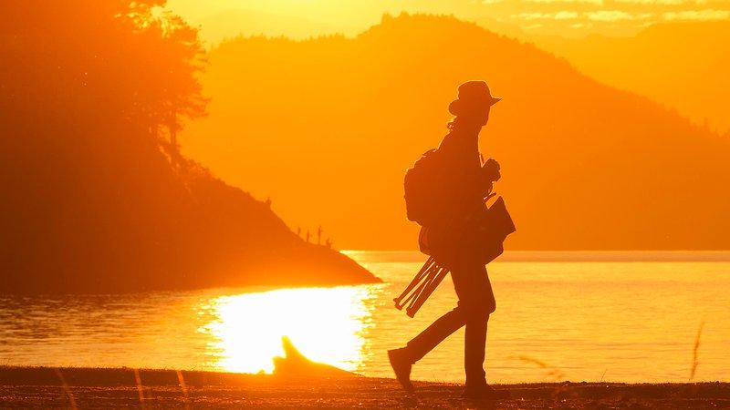 Tome en algunos impresionantes puestas de sol en el cuello del punto, de Nanaimo.