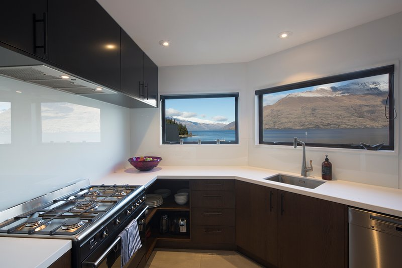 Cooks kitchen with a view