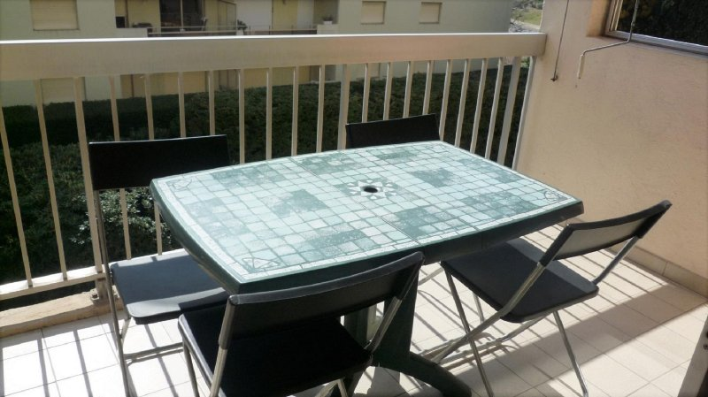 table on the terrace