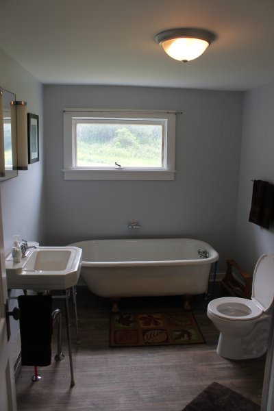 Soak in the clawfoot tub