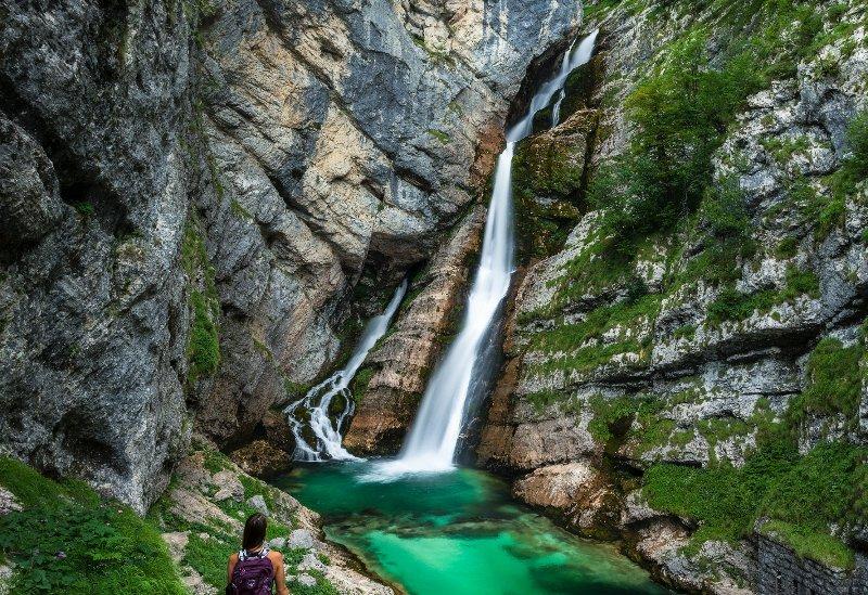 Savica Wasserfall ist eine 45 Minuten Fahrt von der Wohnung (+ 20 Minuten Wanderung).
