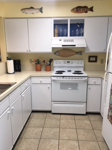 This newly renovated kitchen is perfect for preparing any meal.