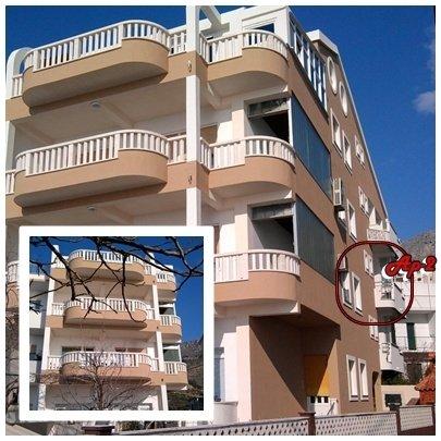 Studioapartment 101-2 für 4 Pers. in Dugi Rat, vacation rental in Dugi Rat