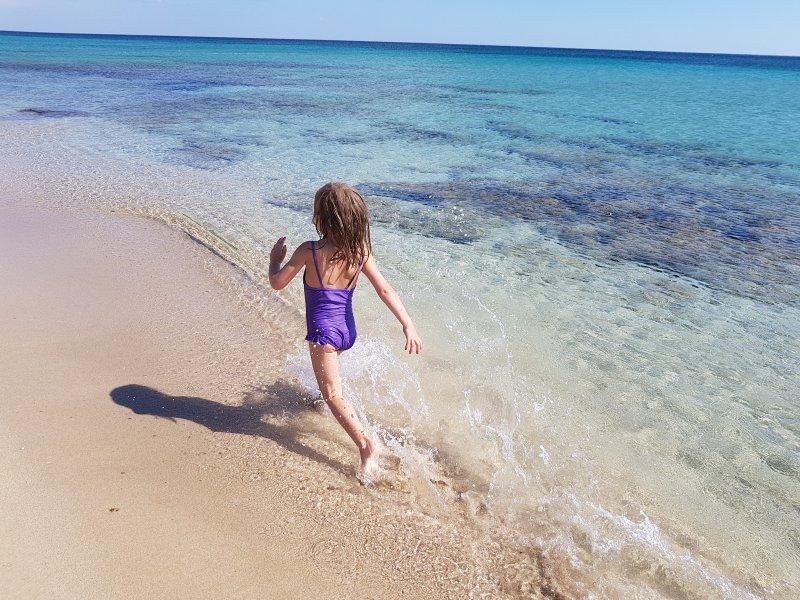 great sand beach ideal for children