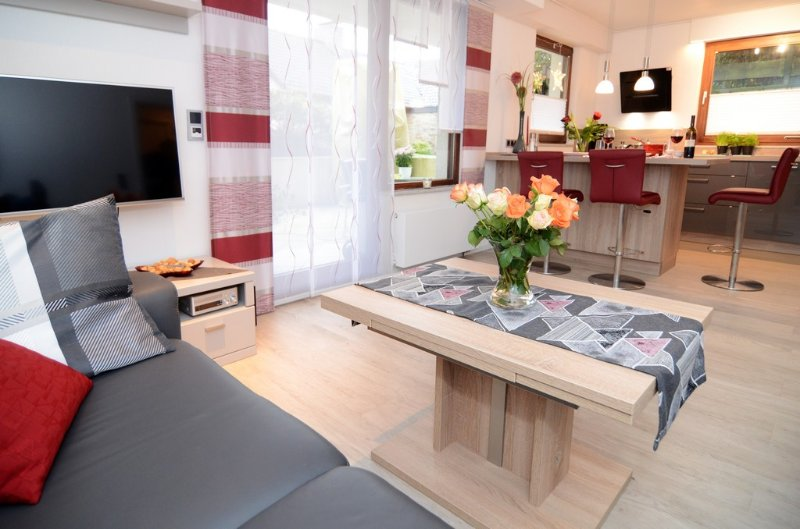 Modern eingerichtete Ferienwohnung 55 qm + 22 qm Terasse für 3 Personen, holiday rental in Remscheid