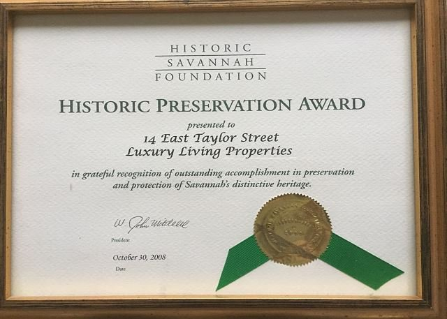 Historic Preservation Award for the Wedding Cake Mansion restora