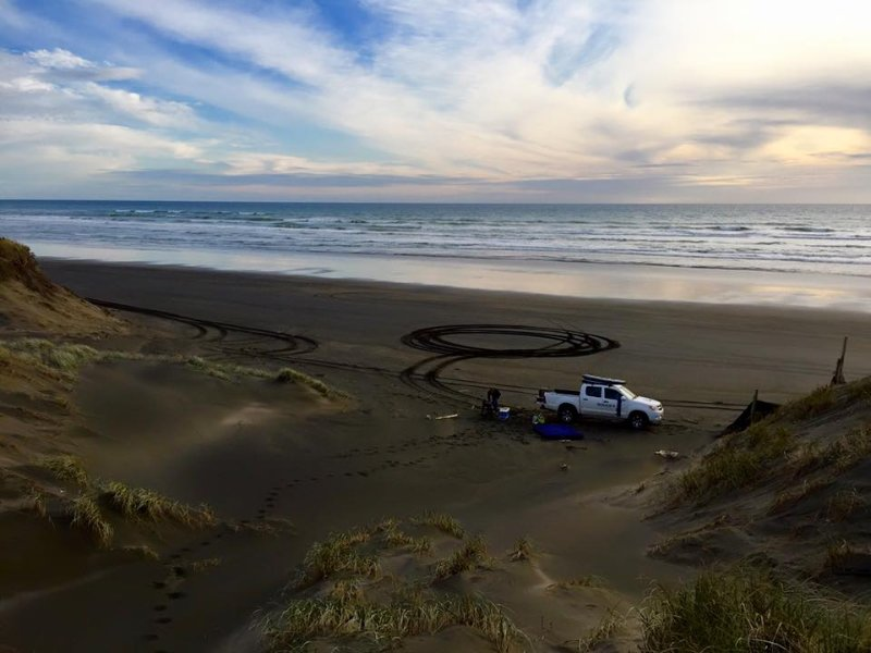 Explore the beach with your 4WD