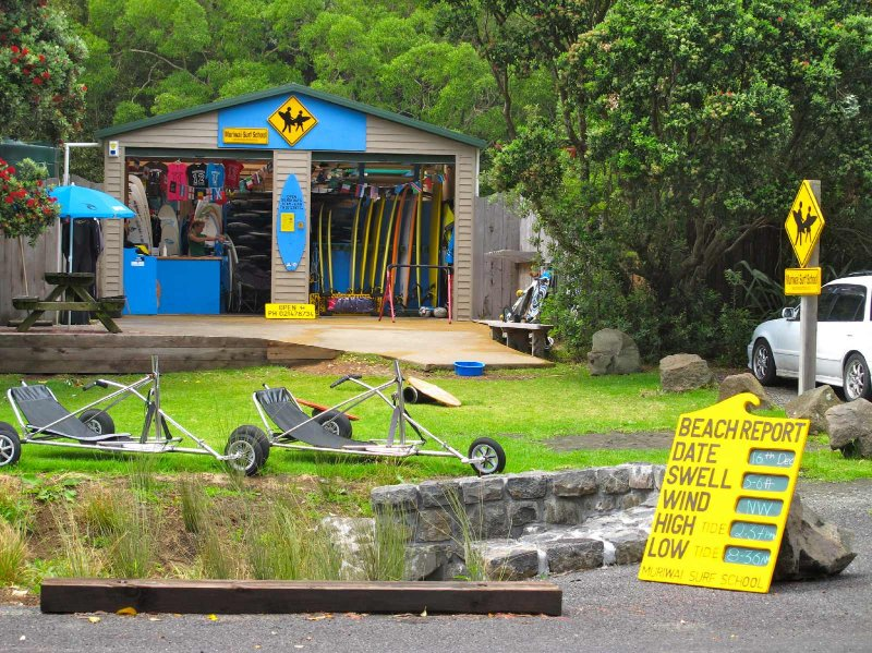 Muriwai Surf School, a 10 minute walk from Coast Retreat