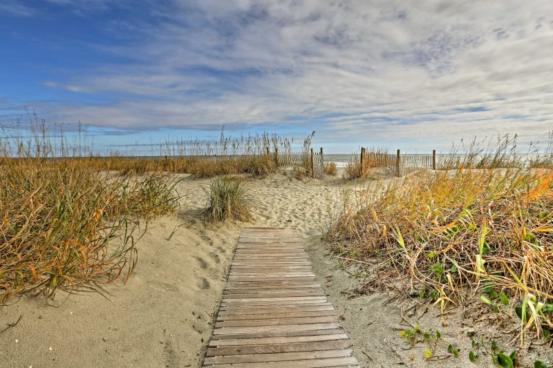 You'll be just steps away from the sunshine and sandy beaches on the Atlantic!