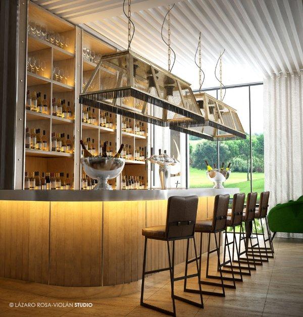 El elegante bar