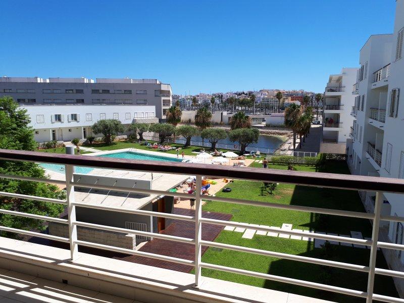 Pool and Marina view