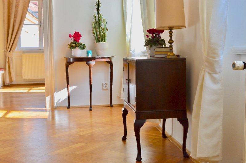 Un mobilier élégant dans la salle de séjour.