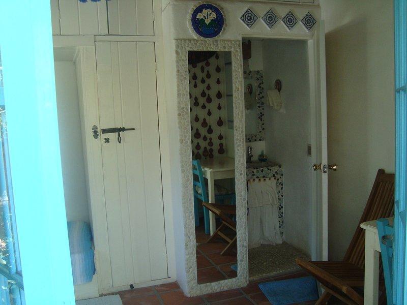 Cheval verre cuarpo la salle et l'entrée de la salle de bain