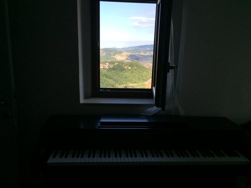Vue de la fenêtre 2ème étage. Vous pouvez jouer du piano tout en regardant cette merveille!