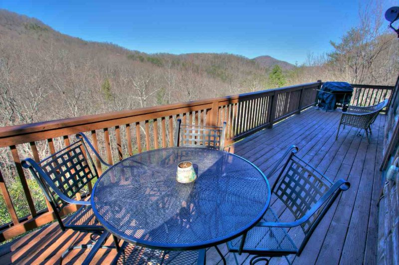 Back Deck with Mountain View. Summer
