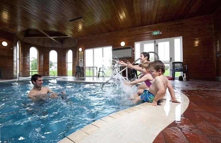 Indoor heated swimming pool and sauna