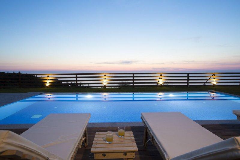 Atmosferic vista de Villa de lujo Irida