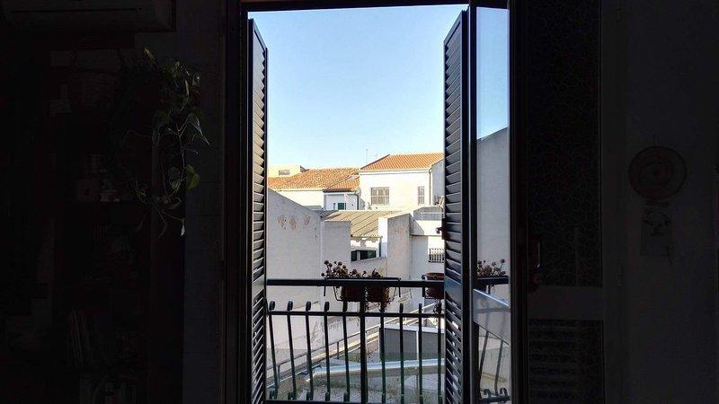 Utsikten från vardagsrummet / kök