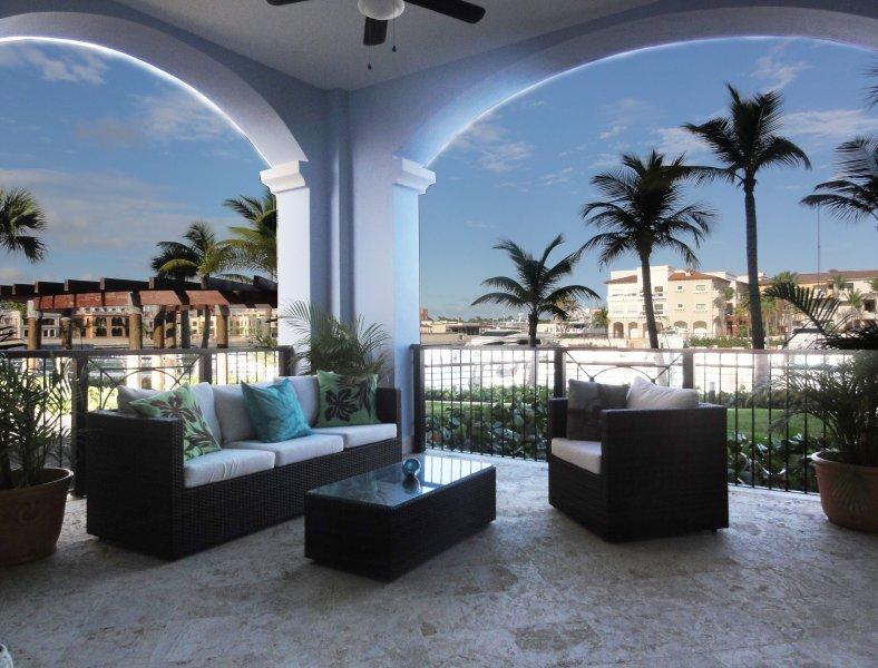 Terrace overlooking Marina