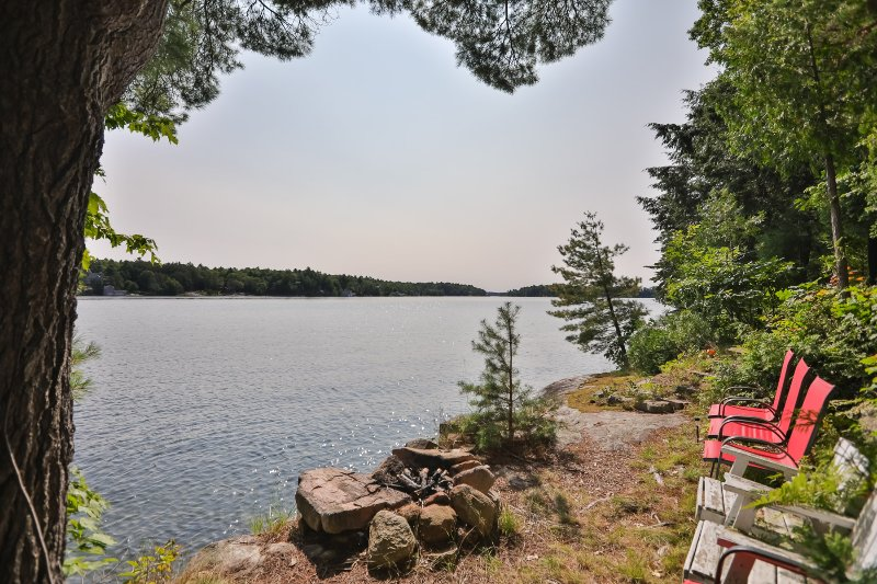 Spend some time reflecting in the Muskoka chairs with the 2nd to none view!