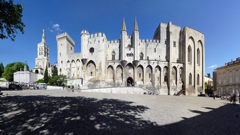 Palace of the Popes Avignon (30-40 mins from Nimes)
