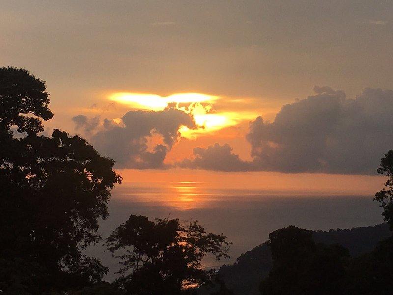 Sunset photo taken from  Mauser EcoHouse veranda