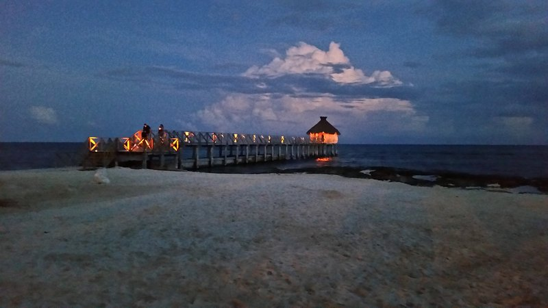 The piers are a great way to enjoy the sunset.  This one is used for weddings.