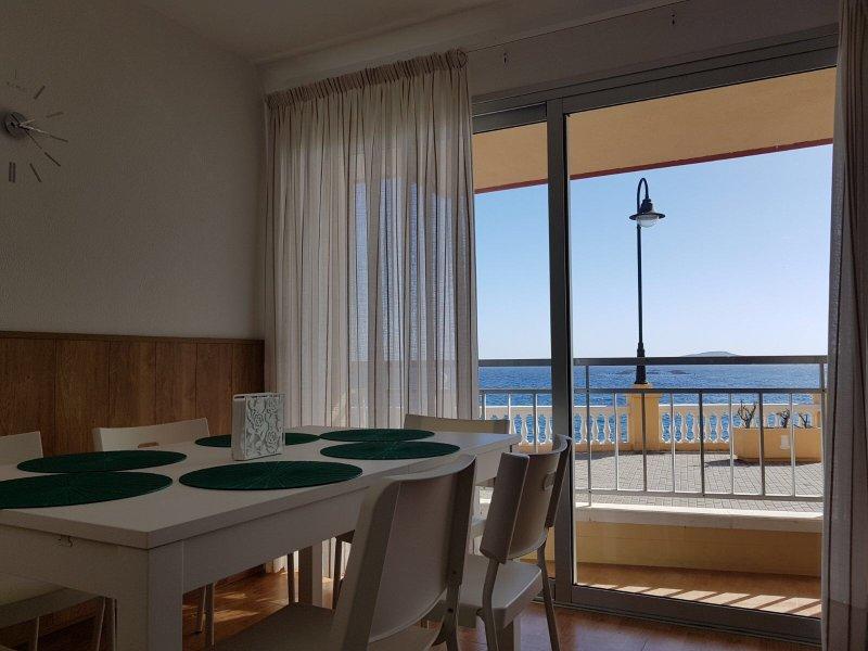 Vista desde salón comedor, acceso directo al paseo de Taliarte, a 2 minutos de la Playa de Melenara.
