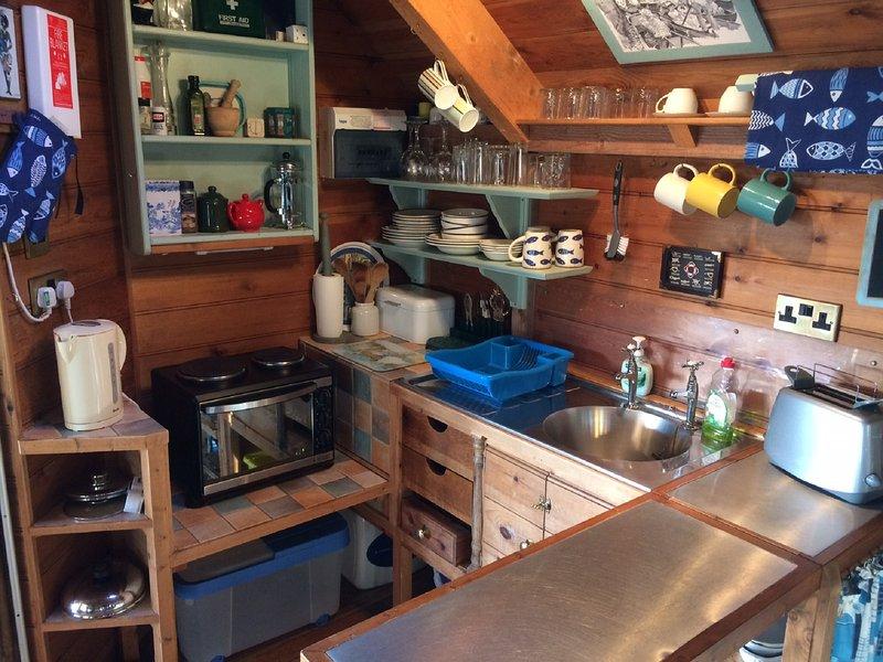 A área da cozinha