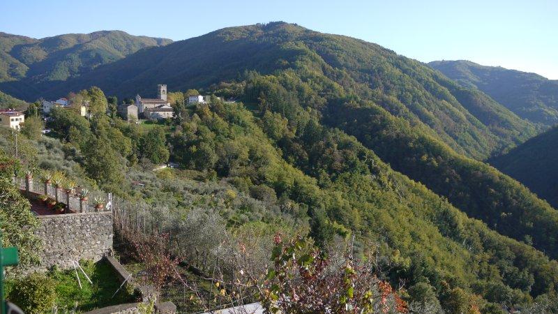 View towards Lugliano church from the villa