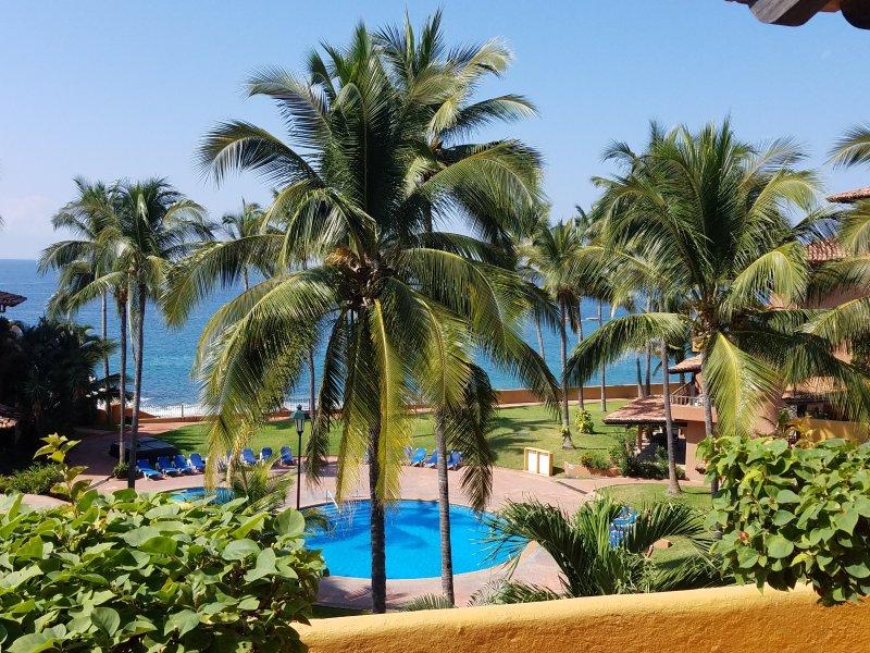 Beautiful views to the pool and Banderas Bay