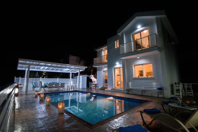 Villa Joanna, the Pool, the Patio, at Night!