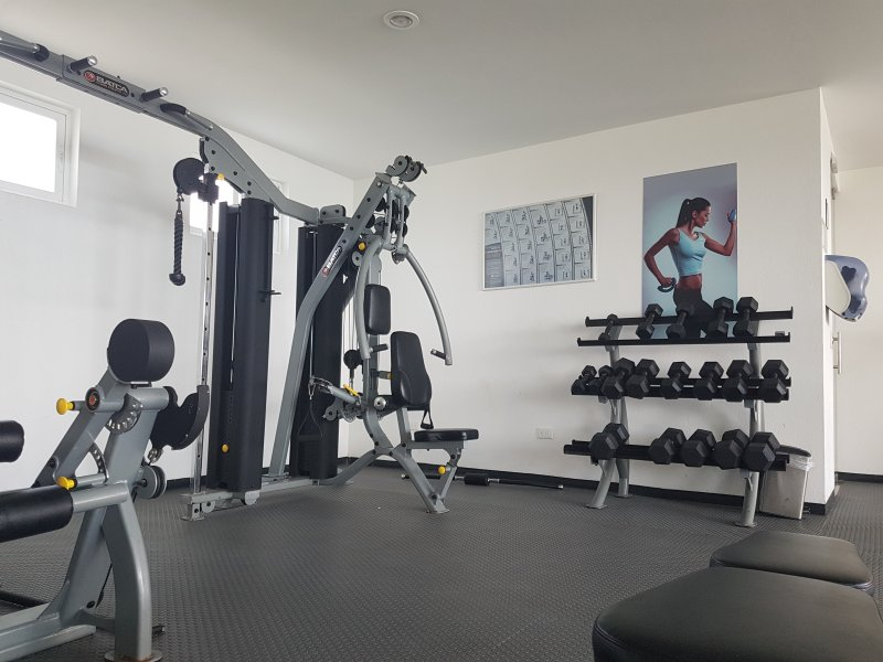The gym at the condo
