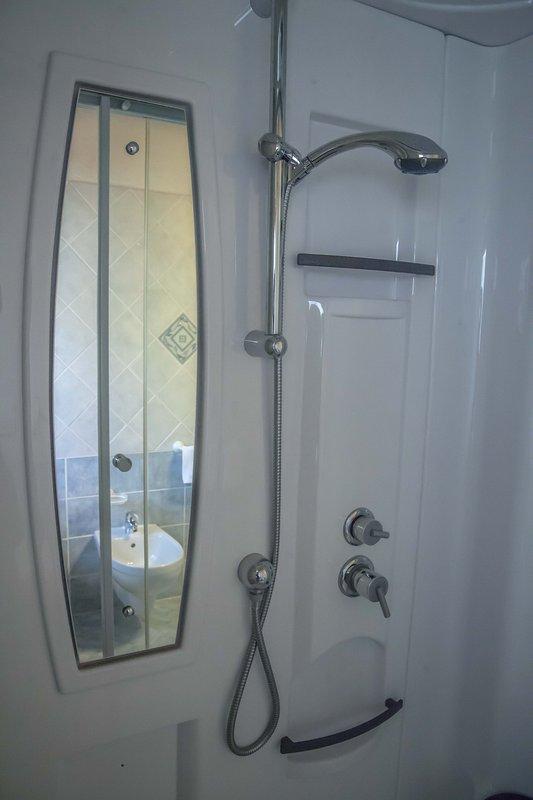 besondere Dusche