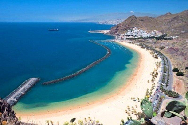 La Teresitas Strand, nur 35 Minuten vom Haus entfernt.