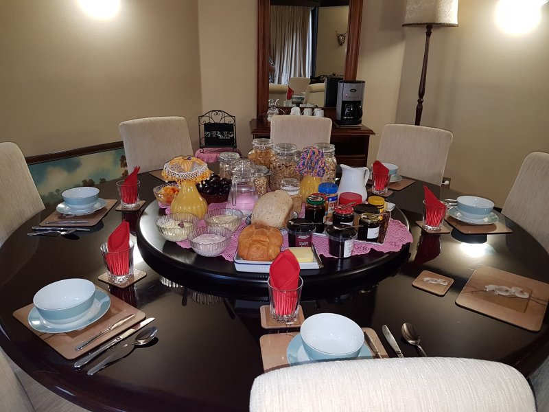 Dining table for 8. Continental Buffet Breakfast included in the room price.