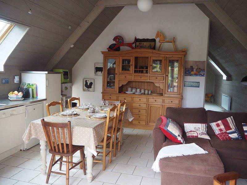 Sala de estar en casa rural