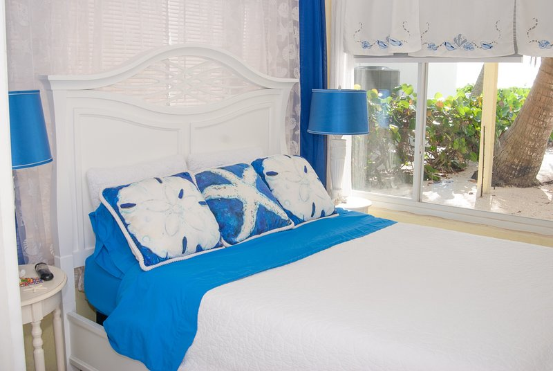 Master bed with office & view of gulf
