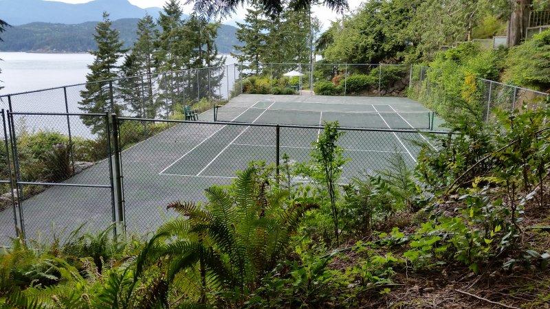 Su propia pista de tenis privada