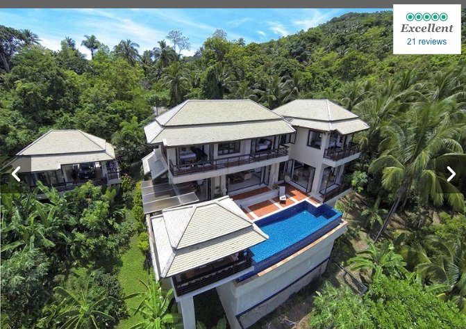 Tranquility Found Private Villa w/seaview and Pool + Private attached Bungalow, vakantiewoning in Ang Thong