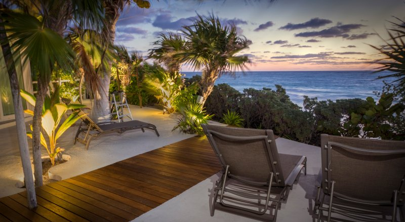 Get away from it all and relax on our terrace with the ocean at your feet