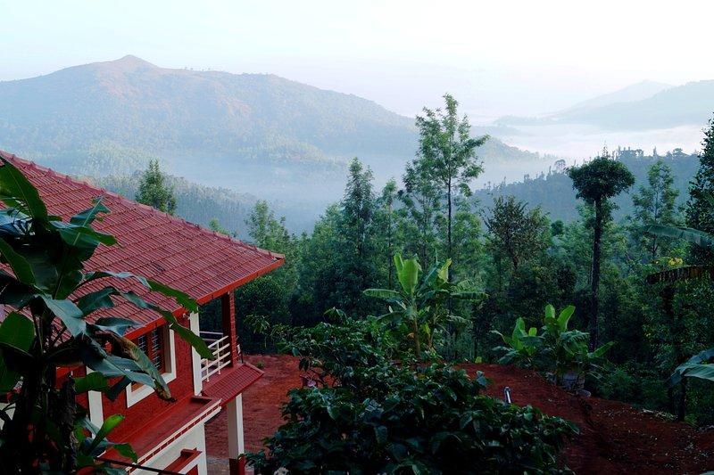Uttunga Homestay Deluxe Room with Balcony - Bedroom  1 – semesterbostad i Sringeri