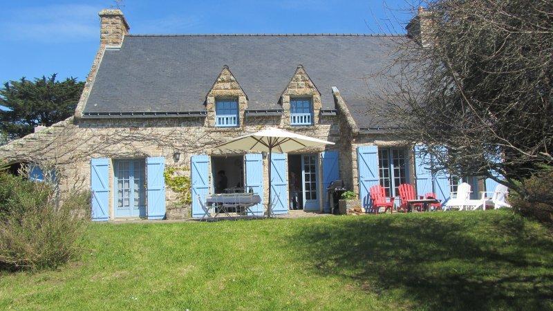 New : Plein sud, familiale, grand jardin, 5 chambres, 10 pers, calme, holiday rental in Ile-aux-Moines