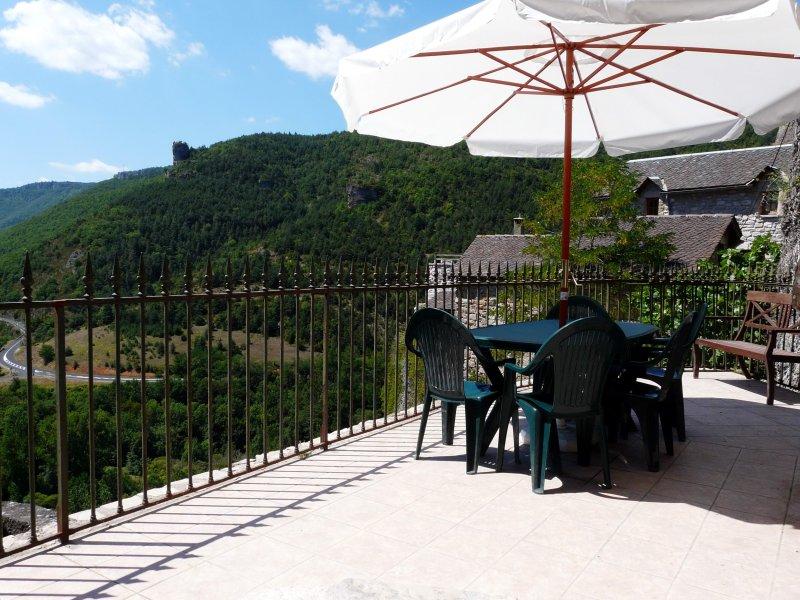 The Egyptian gite's private terrace