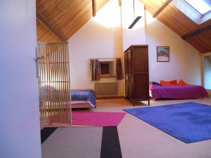Große Schlafzimmer im oberen Stockwerk
