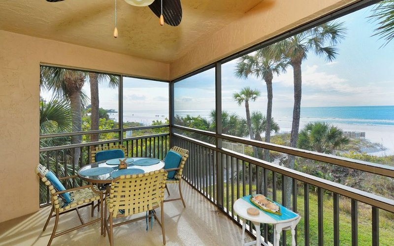 Lanai with FULL Beach Views in both directions!