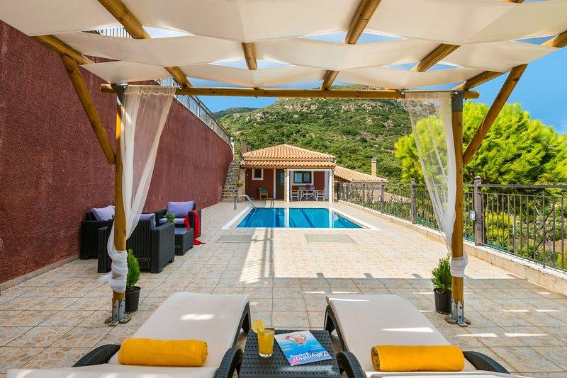 Eleni one-beroom villa with sea view, holiday rental in Vasilikos