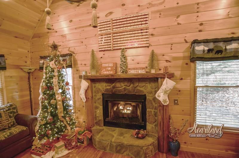 Belle cabine décorée pour Noël